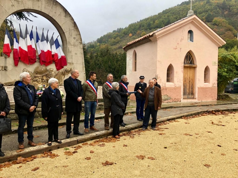 Commémoration du 11 novembre à Moulinet